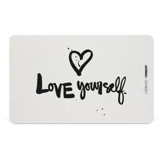 "Frühstücksbrettchen ""love yourself"" - design@home"