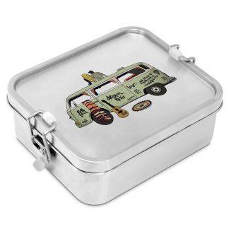 "Edelstahl Lunchbox ""Freiheit - Bulli"""