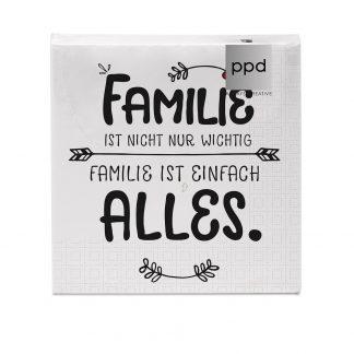 "Servietten ""Familie ist alles"" - 33x33 cm"