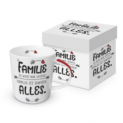 """Tasse """"Familie ist alles"""" mit Geschenkbox"""