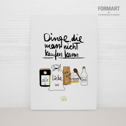 """Postkarte """"Dinge, die man nicht kaufen kann"""""""