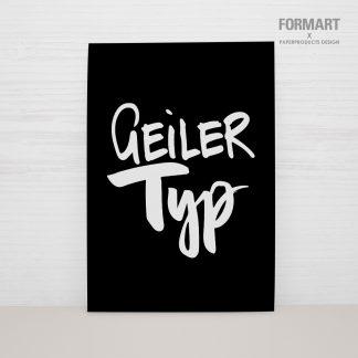"""Postkarte """"Geiler Typ"""""""