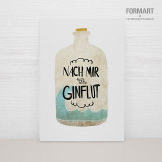 """Postkarte """"nach mir die Ginflut"""""""