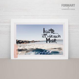 """Postkarte """"Heute ist mir nach Meer"""""""