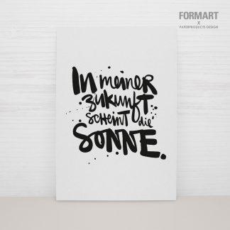 """Postkarte """"In meiner Zukunft scheint die Sonne"""""""