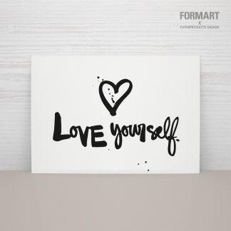 """Postkarte """"Love Yourself"""""""