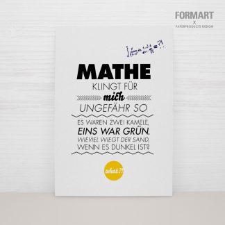 """Postkarte """"Mathe"""""""