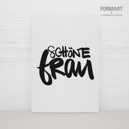 """Postkarte """"Schöne Frau"""""""