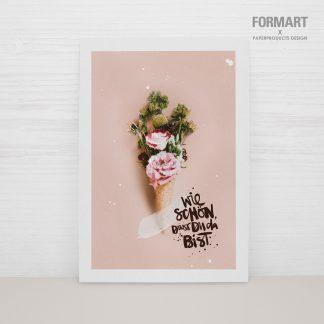 """Postkarte """"Wie schön, dass du da bist"""""""