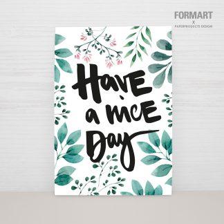 "Postkarte ""HAVE A NICE DAY"""