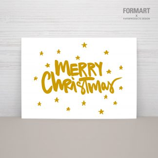 "Postkarte ""MERRY CHRISTMAS - gold"""